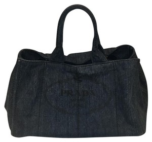 Prada Tote in Denim Blue