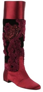 Roger Vivier Maroon/Red Boots
