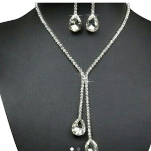 Other Diamond Cz Swarovski Bridal Wedding necklace earring set