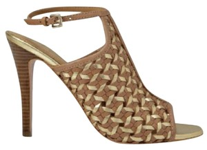 Coach Gold and tan Pumps