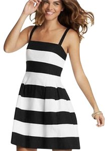 Ann Taylor LOFT short dress Black, White on Tradesy