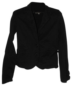 Juicy Couture Applique Cotton Black Blazer