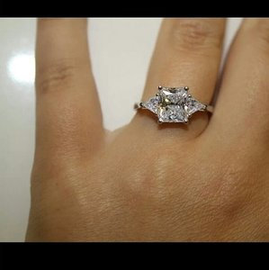 Vvs1 Ring Diamond Engagement 2 Ct Stone 3 Pt940
