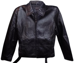 Colebrook & Co. Classic Fitted Structured Exclusive Leather Jacket