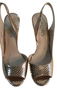 Michael Kors Snakeskin Gold Formal