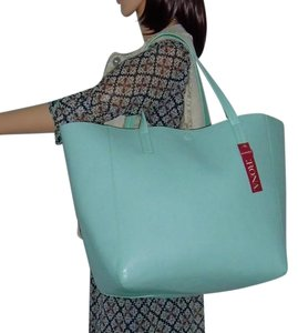 Merona Tote in Mint Green/Dark Mint Green