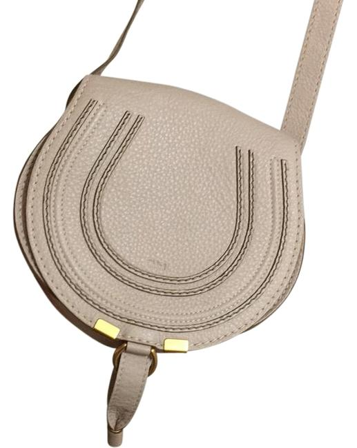 Item - Marcie Small White Leather Cross Body Bag