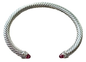 David Yurman Cable Classics Bracelet with Pink Tourmaline and Diamonds, 5mm
