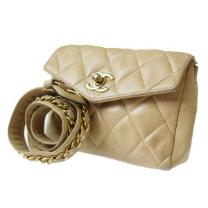 Chanel beige Travel Bag