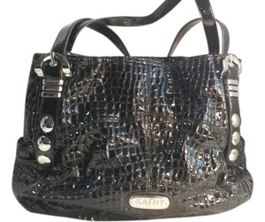 Kathy Van Zeeland Von Patent Leather Hobo Bag
