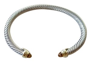 David Yurman Cable Classics Bracelet with Citrine and Gold, 5mm