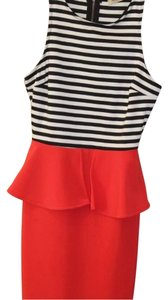 Arden B. short dress Black, red, white on Tradesy
