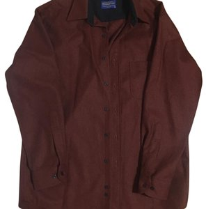 Pendleton Button Down Shirt Red Brown