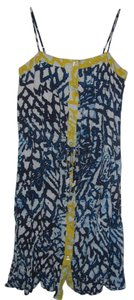 Rachel Roy short dress Blue Yellow White Summer on Tradesy