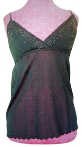 Bebe Camisole Top Black w/Beaded Trim