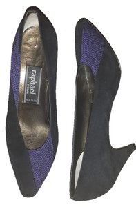 Raphael Roma Vintage Black & Purple Pumps