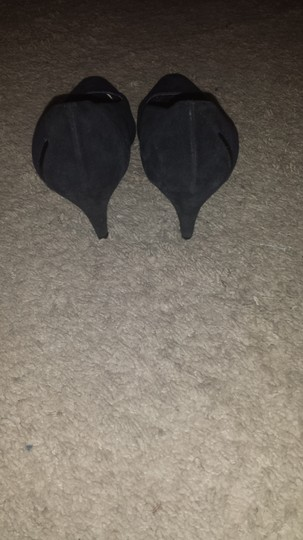 Raphael Roma Vintage Suede Kitten Heels 7.5 Black & Purple Pumps