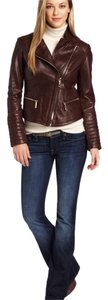 Kenneth Cole Wine Leather Jacket