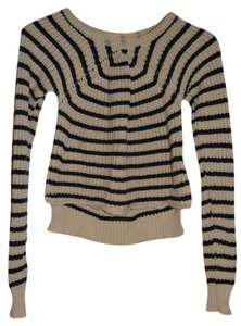 Patterson J. Kincaid Striped Crop Sweater