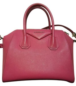 Givenchy Rolled Leather Satchel in PINK