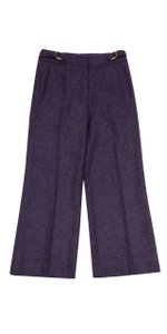 Escada Purple Wool Trousers Trouser Pants