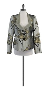 Giorgio Armani Grey Tan Print Jacket