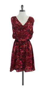Alice + Olivia short dress Red & Pink Abstract Print on Tradesy