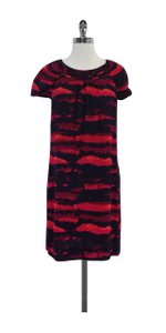 Tory Burch short dress Navy & Pink Abstract Print on Tradesy
