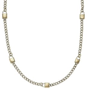 Michael Kors MKJ3723710 MKJ3723 Gold Heritage Padlock Chain Necklace