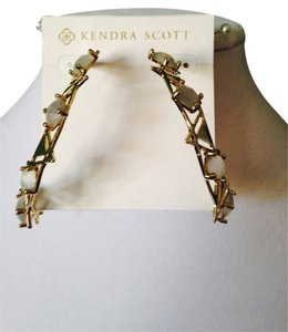 Kendra Scott Faceted Slate Geometric Hoop Earrings