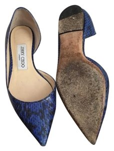Jimmy Choo Blue/black Flats