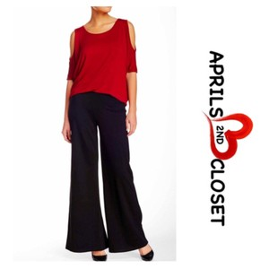 Bobeau Wide Leg Pants Black