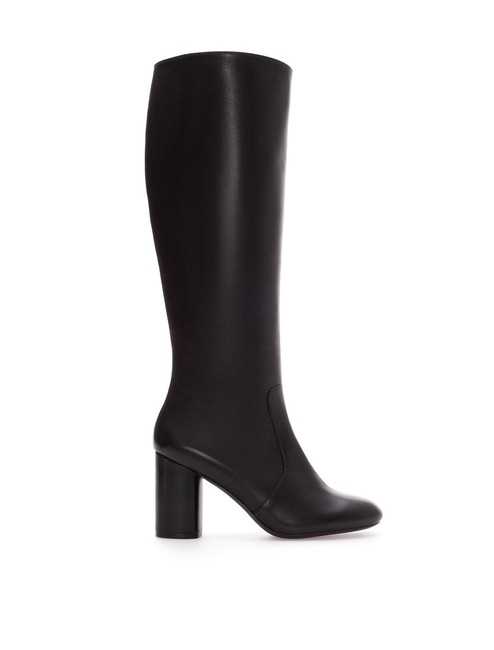 Item - Black Leather Knee High Boots/Booties Size US 10 Regular (M, B)
