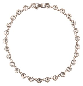Givenchy Bronze-tone bezel set round faceted crystal collar necklace
