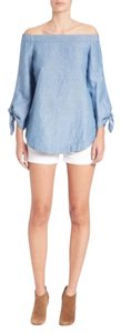 Free People Top chambray