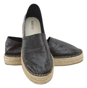 JustFab Black Espadrilles Black Summer Summer Patent Patent Espadrilles Edgy Cool Modern Slip On Black Patent Flats