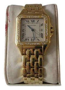 Cartier 18K Yellow Gold & Diamond Cartier Panthere Watch (Unisex)