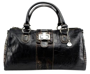 M.C. Faux Satchel in Brown/Black