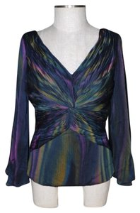 Victor Costa Semi Formal Bell Sleeves Top multi color