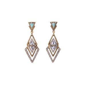 Other Marble Pave Stone Meridian Earrings