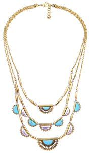 Other Pearl Turquoise 3 Chain Statement Necklace