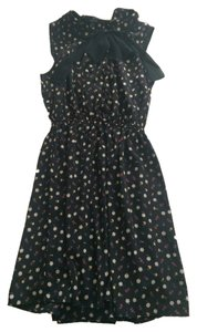 Forever 21 short dress Black/Multi Color Florals on Tradesy
