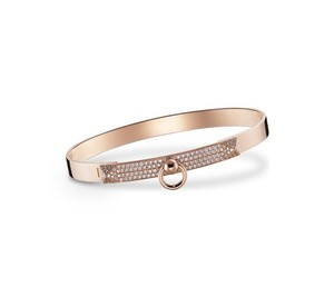 Hermès Hermes Collier de Chien Rose Gold Diamond Bracelet