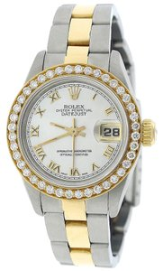 Rolex Rolex Datejust Ladies Gold/Steel Original MOP Dial Diamond Bezel