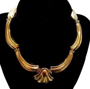 6750.00 APPRAISAL: Vintage 14kt Yellow Gold SCALLOPED CHOKER Necklace