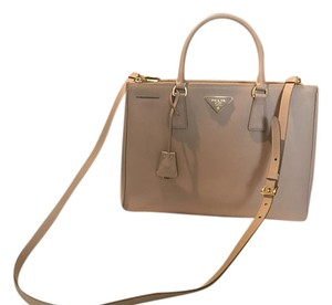 Prada Pr.k0620.08 Leather Ghw Top Handle Tote in Blush