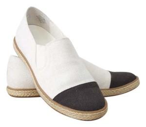 Enzo Angiolini Espadrilles Espadrilles Modern Espadrilles Espadrilles Edgy Minimalist Modern Slip On White and Black Flats