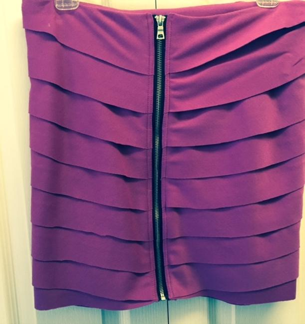 Rampage Sculpted Front Mini Skirt Fuchsia