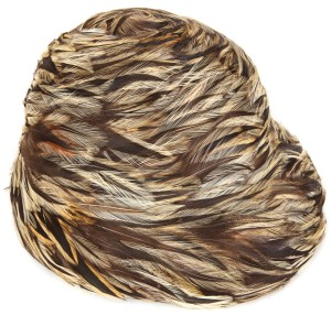 Lord & Taylor Lord & Taylor Vintage Feathered Asymmetrical Cloche Hat
