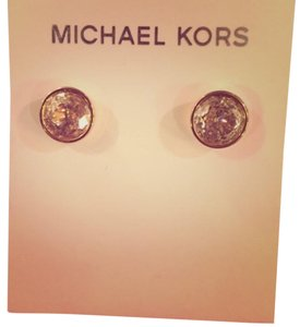 MICHAEL Michael Kors NWT Michael Kors Oversized Diamond & Gold Stud Earrings
